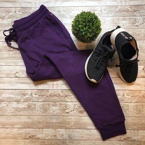 Fabletics Pants - Fabletics The Hamilton Purple Joggers